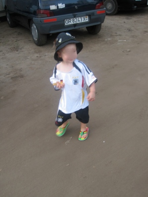 DB2 at the 2010 World Cup - Ballack Germany Kit and Ghana sandals - because that's the way he rolls.