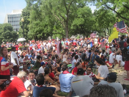 At Dupont Circle - among the U.S. fans.