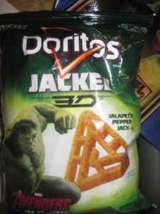 This year's odd Doritos were OK.  But they taste just like the jalapeno Cheetos.  Don't ask how I know this.