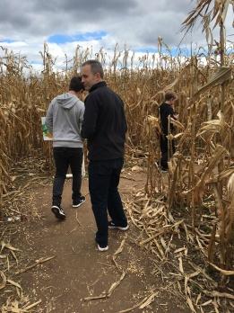 Lost in the corn maze.